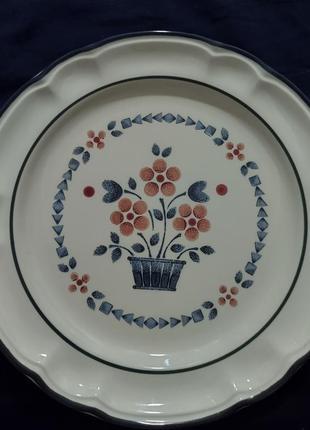 Столовая тарелка ежевика.hearthside cumberland brambleberry stoneware dinner plates japan
