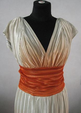Шикарное длинное платье в пол с переходом цвета омбре амбре плиссе на  выпускной на свадьбу b8800956e7c83