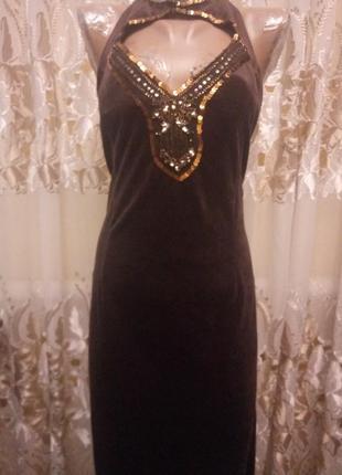 Платье велюровое