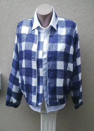 Бомбер,куртка,ветровка,блуза ,рубаха  с застежкой на  молнии ,на бодкладке,в клетку.