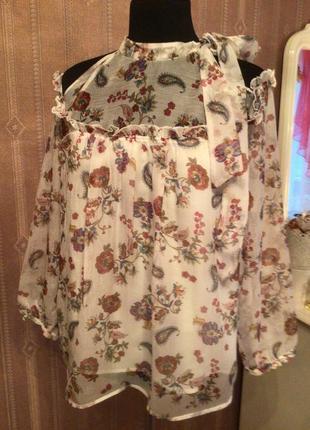 Нежная воздушная романтическая блуза oliver