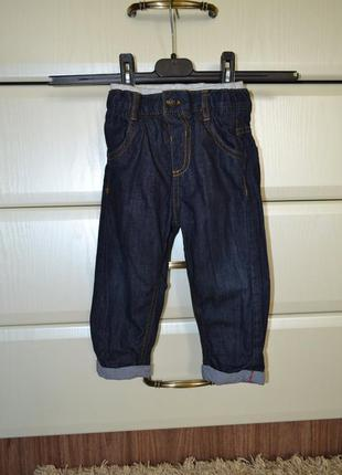 Стильные джинсы marks&spencer на хлопковой подкладке. на 12-18 мес.