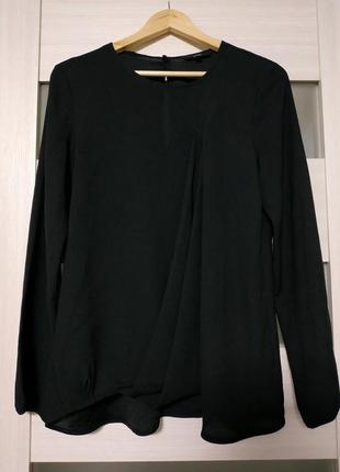 Черная блуза с длинным рукавом next