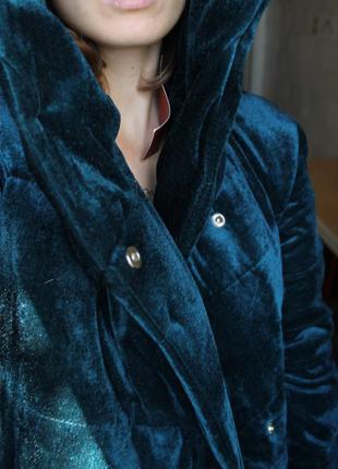 Куртка пуховик - одеяло бархатная