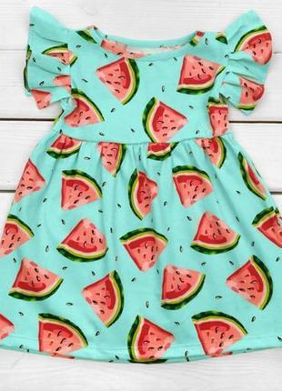 Детское летнее платье кулир 98 - 122 см