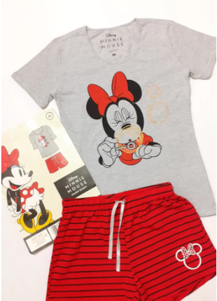 Пижама хлопковая домашний костюм футболка шорты disney minni mouse германия размер l xl