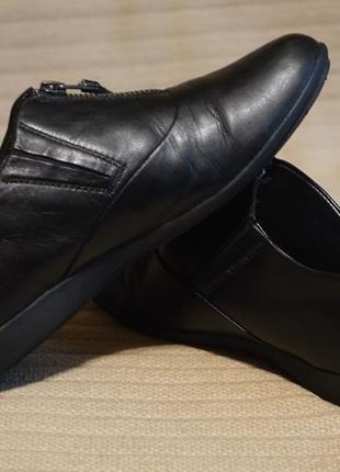 Закрытые демисезонные черные кожаные туфли josef seibel германия 37 р.