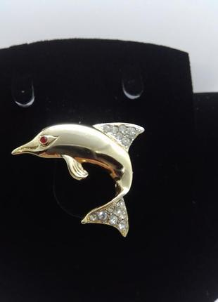 Брошь дельфин 🐬