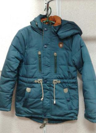 Детская деми куртка парка на мальчика подросток 152-176