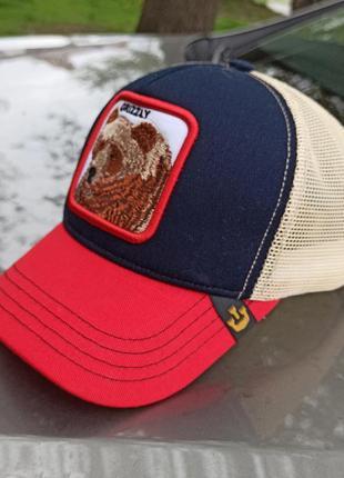 Молодёжная кепка / трекер мужской / бейсболка с логотипом grizzly