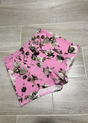 Фактурные шорты с завышенной талией boohoo