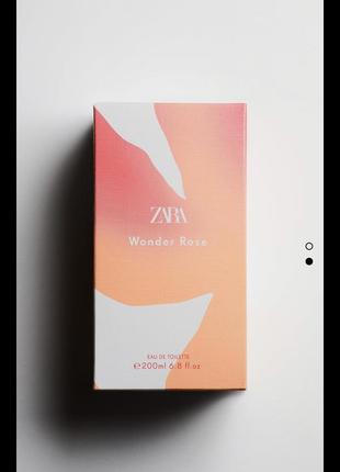 Духи zara wonder rose 200 ml, парфуми zara, туалетна вода2 фото