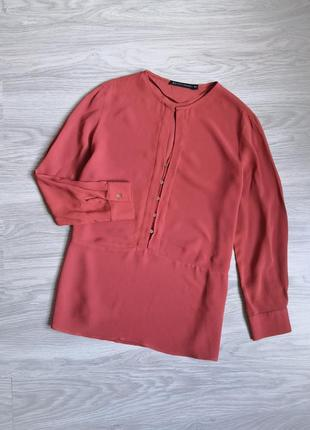 Кирпичная полупрозрачная блуза от zara