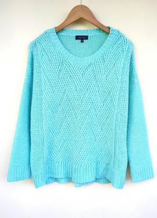 🌿вязаный теплый свитер косичкой от new look / в'язаний теплий светр косичкою!!!
