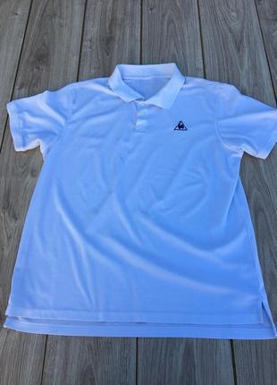 Стильная актуальная футболка поло тенниска me coq sportif adidas nike тренд