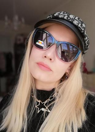 Эксклюзивные брендовые солнцезащитные двухцветные женские очки