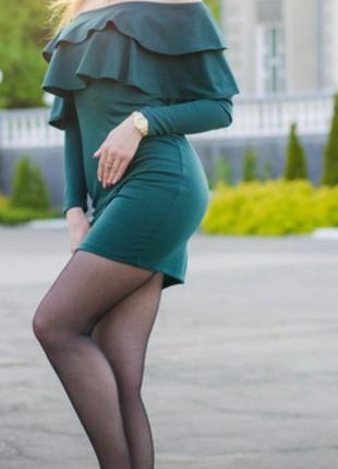 Платье сарафан вечернее плечи  новое открытые трикотаж весеннее летнее