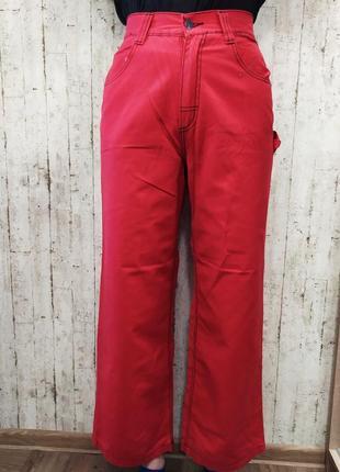 Красные джинсы с ввсокой посадкой