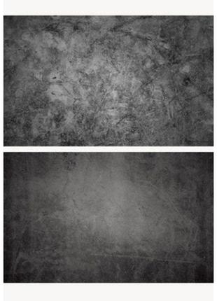 Фотофон однотонный (двухсторонний) фон для съемки фотозона фото черный туман