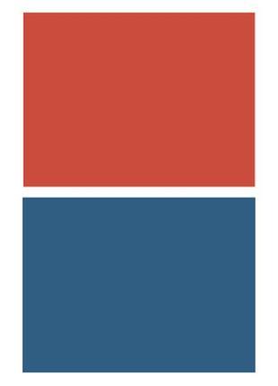 Фотофон однотонный (двухсторонний) фон для съемки фотозона фото красный синий