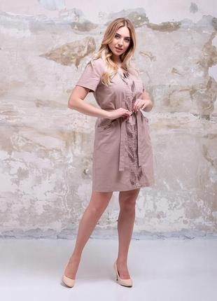 Красивое платье лен