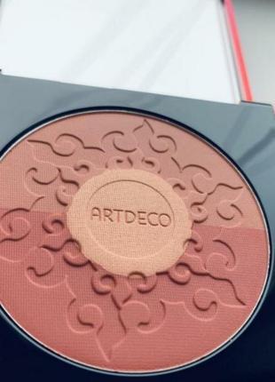 Artdeco бронзирующие румяна для лица bronzing blush4 фото