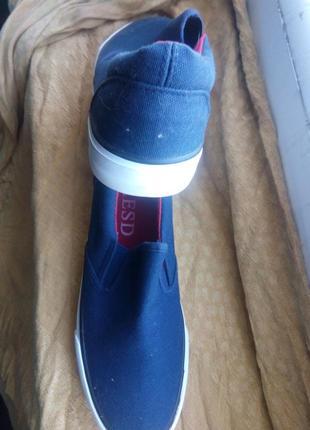 Модные тапки темно синие ткань 39р отправка наложенным платежом
