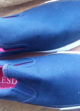 Женские мокасины кеды тапочки насыщ синие тканевые 39 новые унисекс  пересыл наложенным