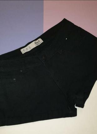 Чёрные джинсовые шорты женские 36, 8 s