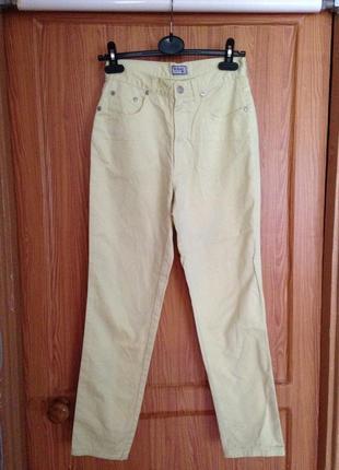 Зауженные джинсы высокая посадка versace