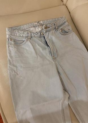 Светлые мом джинсы mom на лето,высокая посадка😍