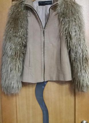 Пальто zara 50%шерсть