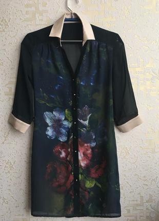 Удлиненная блузка / туника