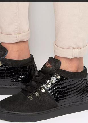 Стильные трендовые кроссовки ботинки натуральная кожа