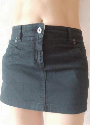 Черная джинсовая юбка review р. 46-48