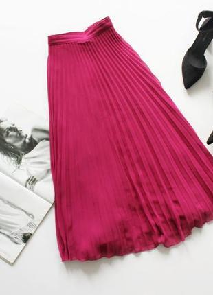 Красивая юбка миди плиссе 3хл