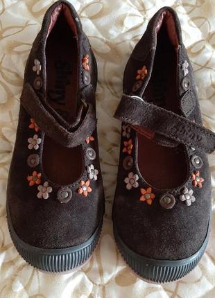 Шоколадного туфельки с цветами 18-19см.