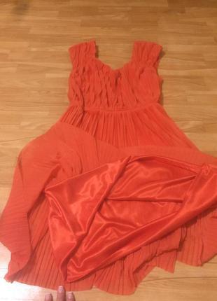 Плиссированное платье от h&m