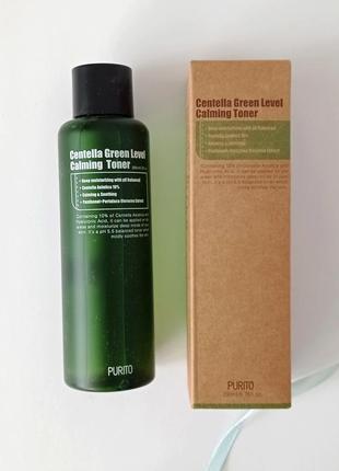Зволожуючий тонер purito centella green level calming toner