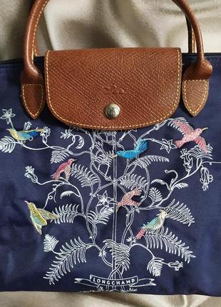 Маленькая сумочка с вышивкой от longchamp2 фото