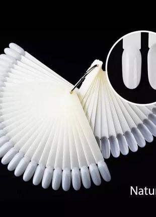 Палитра-веер для нанесения лаков, 50 типс, матовая1 фото