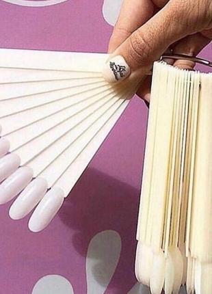 Палитра-веер для нанесения лаков, 50 типс, матовая4 фото