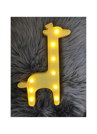 🦒led ночник детский жираф светильник🦒
