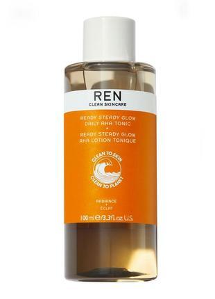 Тоник для сияния кожи лица с ана-кислотами ren radiance ready steady glow daily aha tonic