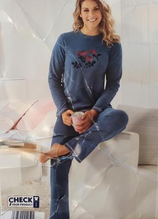 Домашний костюм пижама blue motion m велюровый костюм