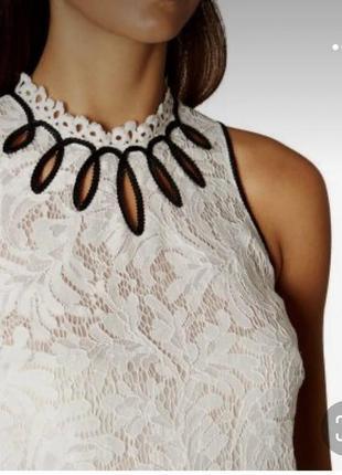 Белая кружевная блузка без рукавов karen millen