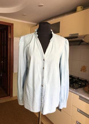 Очень эффектная джинсовая блузка