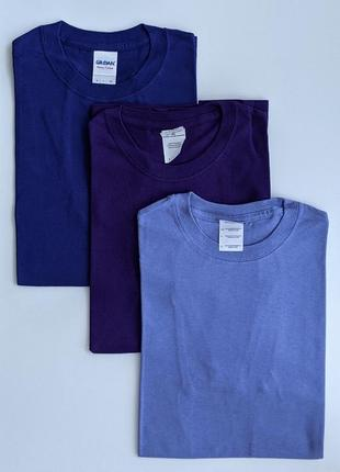 Базові однотонні чоловічі футболки gildan, 100% котон