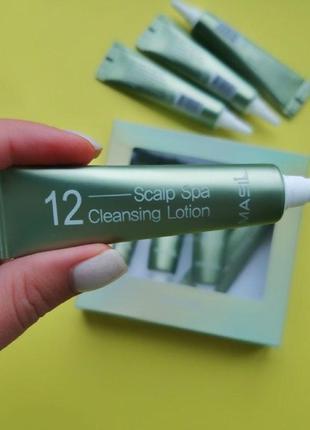 Очищающий лосьон для кожи головы masil 12 scalp spa cleansing lotion, 15 мл