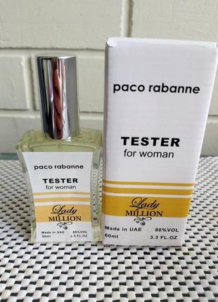Lady million, супер стойкий женский аромат, тестер 60 мл, духи, пробник, парфюм